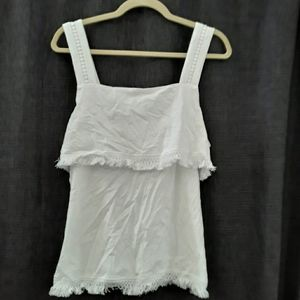 JCrew blouse tank with fringe!